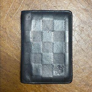 Louis Vuitton Mens Black Leather Wallet